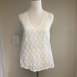 Hollister Lace See-through V-neck Top